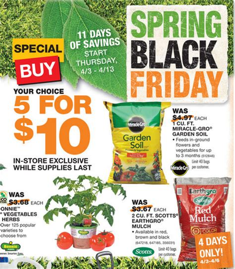 home depot black friday sale 2 mulch miracle gro