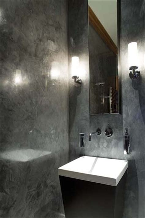 polished plaster bathroom polished plaster powder room faux finish ideas