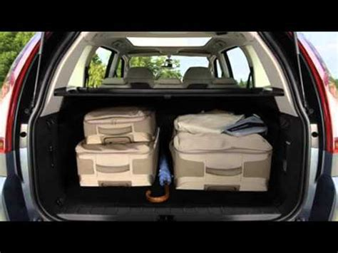 citroen c4 picasso trunk citroen c4 grand picasso luggage space youtube