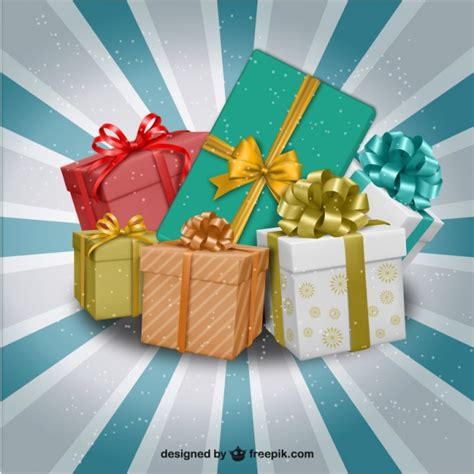 christmas presents illustration vector free download