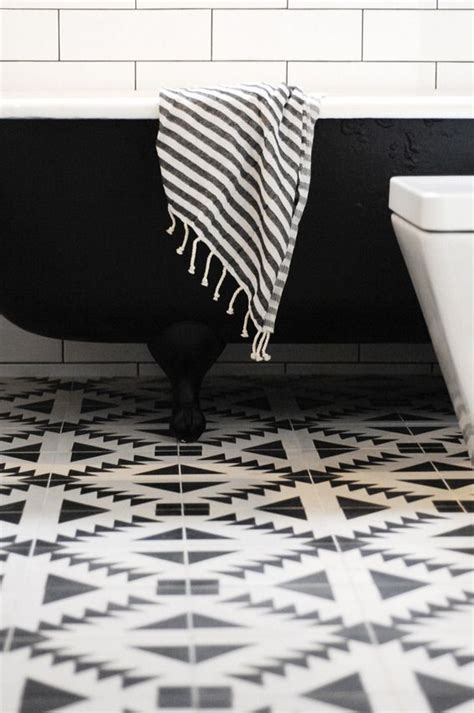 black and white bathroom tile floor 40 black and white bathroom floor tile ideas and pictures
