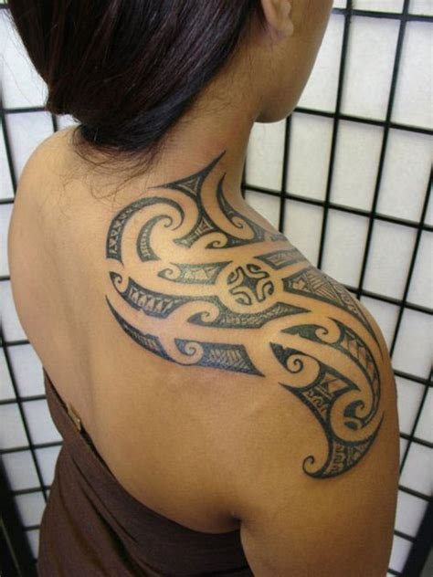 tribal shoulder tattoos for girls hawaiian tribal tattoos design for designs