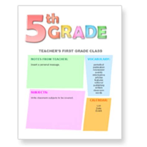 5th grade newsletter template free newsletter templates for teachers from worddraw