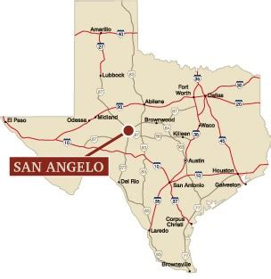 where is san angelo texas on the map map of texas san angelo my
