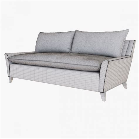 west elm bliss couch west elm bliss down filled sofa 3d model cgstudio