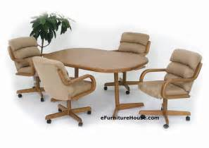 Dining table dining table and chairs with casters