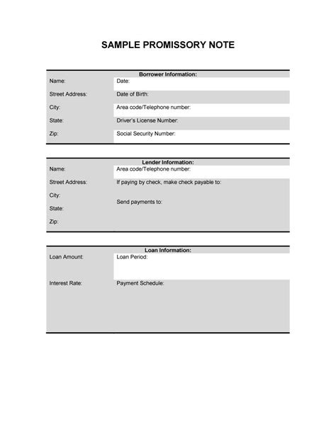 personal loan template word 45 free promissory note templates forms word pdf
