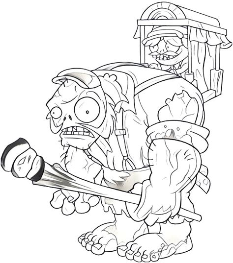 plants vs zombies garden warfare coloring pages of the