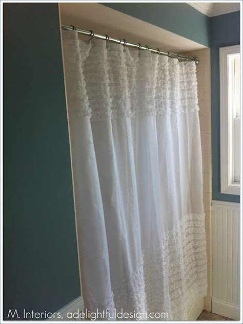 bathroom curtains target ruffled shower curtain via target bathroom pinterest