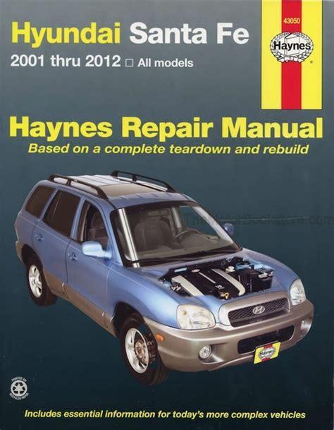 where to buy car manuals 2001 hyundai santa fe navigation system hyundai santa fe repair workshop manual 2001 2012 haynes 43050
