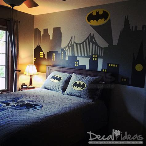 boys batman bedroom superhero wall decal gotham city wall decal batman