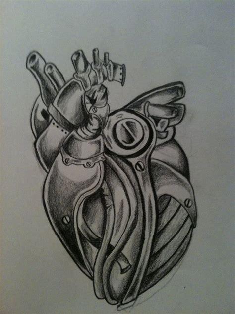 biomechanical tattoo step by step mechanical heart by spudfurfy on deviantart
