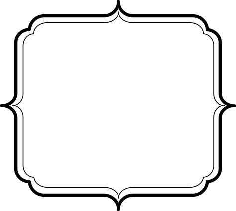 printable art to frame printable frame black and white clipart clipart suggest