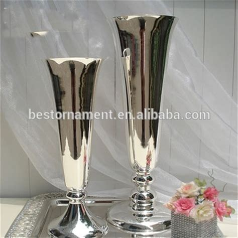 Metal Vases For Wedding Centerpieces by Silver Metal Vase Wedding Flower Stand Centerpieces View