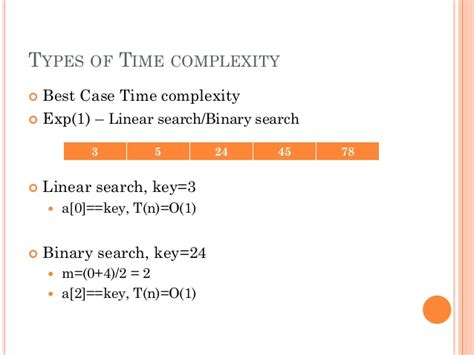 Binary Search Best Time Complexity Data Structure Algorithm And Analysis