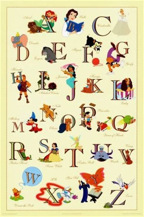 Disney Character Letter K abecedario para ni 241 os para estudiar con los personajes disney
