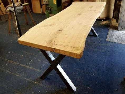 waney edge oak slab handmade dining table quercus furniture
