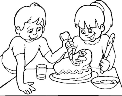 coloring page for cake decorating netart 1 place for coloring for kids part 5