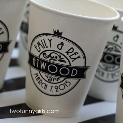 Papercup Wedding by Custom 8 Oz Paper Coffee Cups For Wedding No Lids