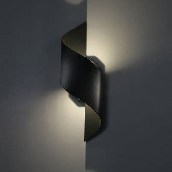 helix led wall light helix indoor outdoor led wall sconce by modern forms at