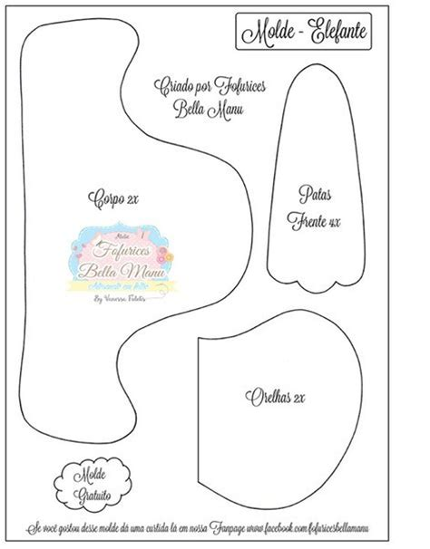 moldes navidenos en fieltro para imprimir molde de elefante bb en fieltro para imprimir gratis ideas
