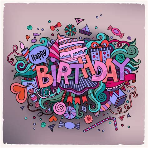 doodle for birthday birthday lettering and doodles elements background