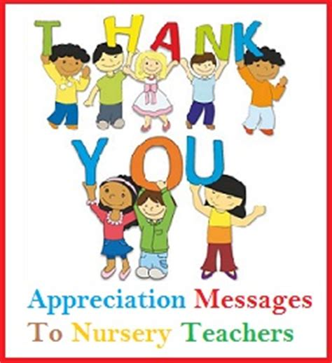 Thank You Note To Nursery From Parents Thank You Messages Teachers