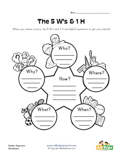 5 W S Worksheet by 5ws Graphic Organizer Worksheet Graphic Organisers
