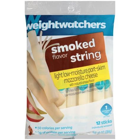 Weight Watchers Smoked Flavor Light Mozzarella String Light String Cheese