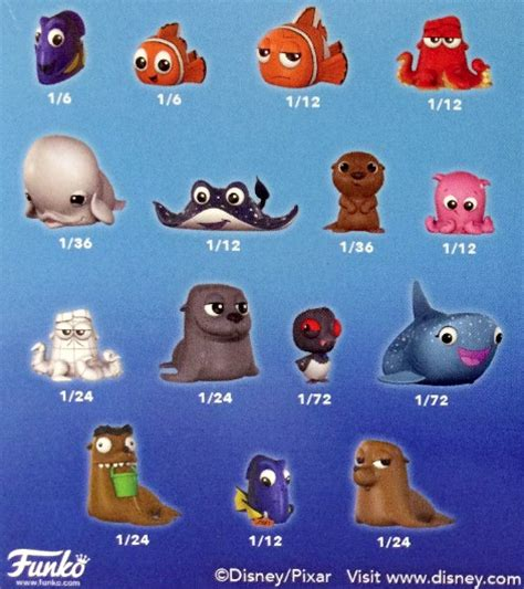 how do u find the mystery characters in cross road funko finding dory mystery minis list info rarity checklist