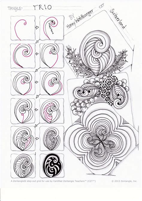 zentangle pattern of 459 best images about zentangle patterns on pinterest