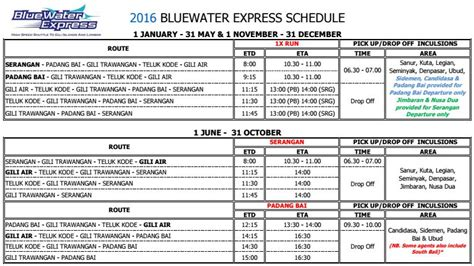 gili air boat schedule blue water express speed boat from bali to gili lombok