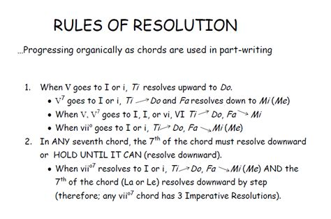 a passion for music theory resolution rules