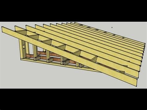 skillion roof erection procedure youtube