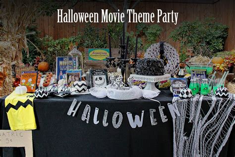 themes halloween movie host a movie themed halloween party making it sweet