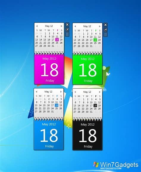 Calendar Desktop Gadget Windows 7 Color Calendars Windows 7 Desktop Gadget