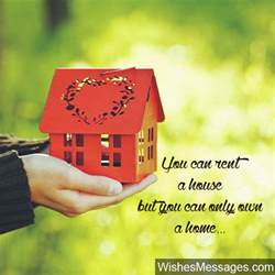 new home wishes and messages congratulations for buying a