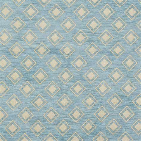 upholstery fabric maryland b0840d aqua light blue woven small diamonds chenille