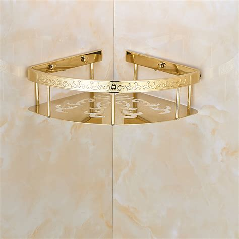 gold bathroom shelf corner bathroom shelf promotion shop for promotional