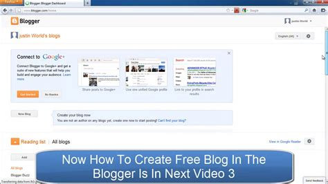 html tutorial for blogger how to creat free blogger account for free blog or website