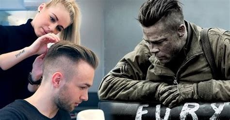 brad pitt prohibition haircut brad pitt hair from fury professional guide on mens