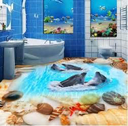 Painting Bathroom Floor Tiles - 3d flooring painting a guide to installing epoxy floor designs