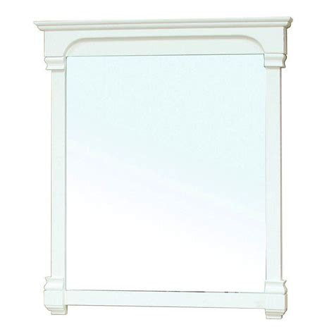 42 inch solid wood frame mirror cream white modern bellaterra home sauceda 42 in l x 42 in w solid wood