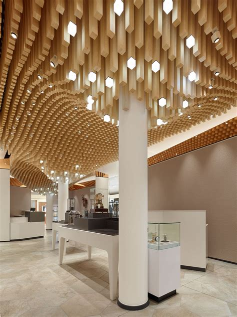 Moderne Deckengestaltung by Modern Ceiling Design Idea 4362 Square Wooden Dowels