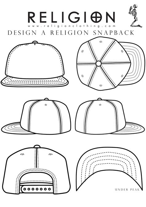 back to back drawing template religion clothing design a religion or snapback