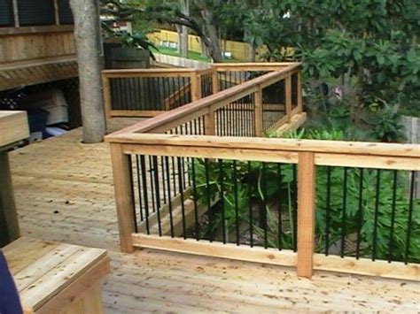 build  deck railing diy outdoors pinterest