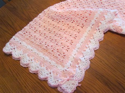 Size Of Baby Blanket For Crib Crochet Baby Blanket Crib Size Heirloom Lace Boutique Quality