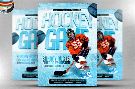 hockey flyer template hockey flyer template flyer templates on creative market