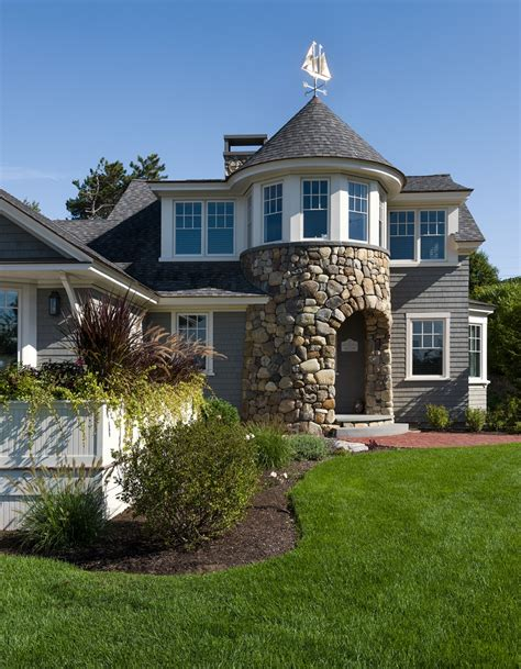 Cottage With Turret by Opening Up A Seacoast Cottage New Hshire Home