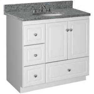simplicity by strasser ultraline 36 in w x 21 in d x 34 5 in h vanity cabinet only with left